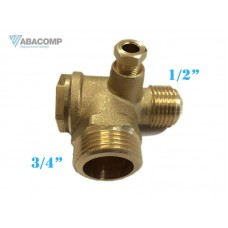 ABC 9048003 NON RETURN VALVE 3/4 M, 1/2 M Componente